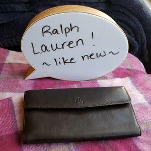Ralph Lauren Brown Leather wallet ~like new~